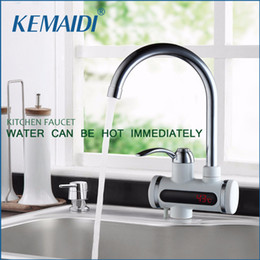 Wholesale Faucet Heater - RU Instant Tankless Electric Hot Water Heater Faucet TapsKitchen Instant Heating Tap Water Heater With LED Temperature Display
