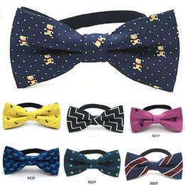 Gravata de xadrez a lã amarela on-line-Crianças bow tie borboleta dos desenhos animados dot start 10 * 5 cm ajustável bowknot neckwear criança azul amarelo vermelho 2 pçs / lote