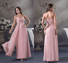 1acc2a681df stylish chiffon evening dresses Coupons - Sexy 2018 Evening dresses A Line Pink  Chiffon Sweetheart Zipper