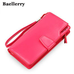 Wholesale Hot Pink Clutch - High Quality women's purse fashion wallet women big capacity leather wallet female long clutch women purse New Arrival HOT !