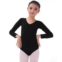 Wholesale Leotard Stage Costumes - Children Baby Girls Long Sleeve Leotard Costume Girls Kid Ballet Dance Gymnastics Skating Dancewear Stage Dancing Clothing