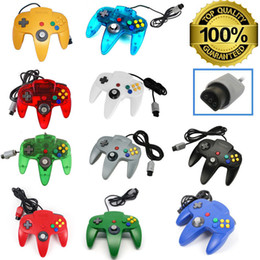 Wholesale Nintendo Games Consoles - Long Controller Game Pad Joystick System for Nintendo 64 N64 Console without Retail Packaging