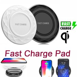 Wholesale qi wireless charger pad black - Qi Wireless Fast Charger 9V Charging Pad Samsung Galaxy Note 8 S8 iPhone X 8 iphone Charger Black&White