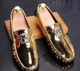 Chaussures de travail décontractées et respirantes en Ligne-Livraison gratuite nouveau style 3 couleurs appartements chaussures de haute qualité en cuir véritable hommes affaires casual chaussures de mode paillettes respirant chaussures hommes
