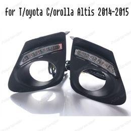 Wholesale Fog Lamp For Toyota Corolla - 2pcs Auto Front lamp Daytime Running Light For Toyota Corolla Altis 2014 2015 DRL led Fog Light Cover Car Styling