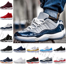Wholesale Girls Cut Out Tops - Top Quality shoes Gym Red Midnight Navy 11 Space Jam 45 basketball Shoes Boys Girls Sports Shoes Toddlers Birthday Gift US 5.5-13 Eur 36-47