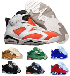 Wholesale Brand Sports Shoes China - Best Men Basketball Shoes Sneakers 6 Mens Women Sports Green Gatorade UNC 6s VI Tennis Trainers China Brand Original Zapatos Mujer 5.5-13