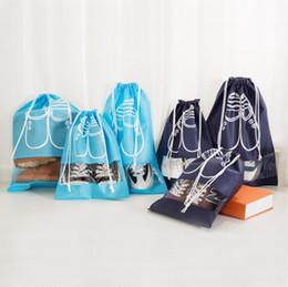 Wholesale Types Flat Sandals - Dustproof Shoes Bags Drawstring Shoe Storage bags Beach Sandals Bag Travel Tote Organizer 5 Colors YW686