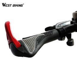 bike bicycle handle grips Coupons - WEST BIKING Bicycle Bike MTB Components Bar ends Handlebars Rubber Grips Aluminum Barend Handle bar Ergonomic Push On Soft Grips