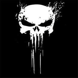 headlights for cars Promo Codes - 10CMX15CM PUNISHER Skull BLOOD Vinyl Car Decals Stickers Motorcycles Decoration Black white car accessory sticker for holiday