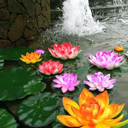 2019 piante per giardini d'acqua 10pcs artificiale acqua di loto giglio galleggiante fiore stagno serbatoio ornamento pianta 10 cm giardino di casa decorazione dello stagno piante per giardini d'acqua economici