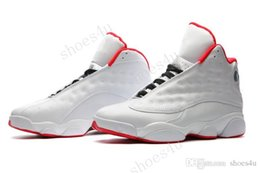 Wholesale bonds discount - (With Box) Discount New 13 XIII ALL White Red Mens Basketball Shoes Sneakers Running Shoes For Men Dan Sports Shoe Size 40-47