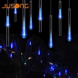 Meteore luci alberi online-JUSONG Natale Impermeabile Led 30cm Meteor Shower Rain Tube Ghirlanda Albero di Natale Decorativo Xmas Outdoor Fairy Lights String