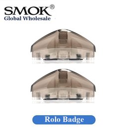 Wholesale Hot Badge - 100% Original Smok Rolo Badge Cartridge 2ml Empty Pods for Rolo Badge Starter Kit Authentic Smoktech Hot Sale