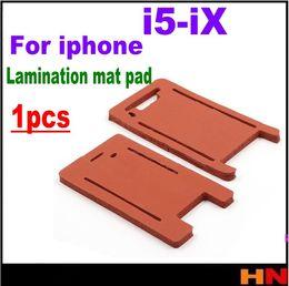 laminación iphone Rebajas 1 unids cojín de la estera de la laminación para el iphone X 8 7 6 s 6 Plus 5 5S 5C vidrio con marco máquina de laminación molde esteras de silicona
