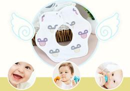 Wholesale Tartan Bib - Baby petal bib 360-degree rotating absorbent bib Six layers of cotton gauze bibs baby products saliva towels