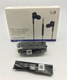 2018 шумовой шум AAAA качество S8 Наушники Наушники 3,5 мм Наушники-вкладыши Earbuds Черная гарнитура с микрофоном с розничным пакетом для Samsung Galaxy s8 plus