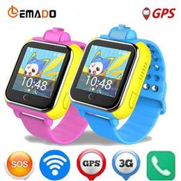 2019 apprendimento del telefono LEMADO Q730 Smart Watch Orologio da polso per bambini 3G WIFI GPS Locator Tracker Bambino apprendimento Orologio con fotocamera per IOS telefono Android apprendimento del telefono economici