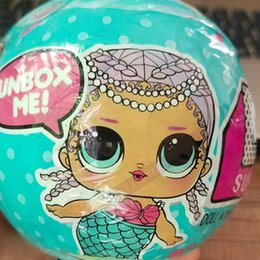 Wholesale funny figures - 3PCS Confetti Pop Series Lol Dolls Random Dress Up Baby Tear Open Funny Dolls For Kids Sleeping Baby Lol Magic Ball Action Figure Toy