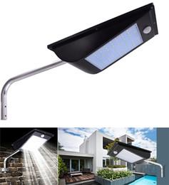 2019 luci solari super luminose del paesaggio LED Solar Light Outdoor 81Led 1000LM Body Sensor Paesaggio Illuminazione da giardino Impermeabile Super luminoso integrato Street Lamp IP65 luci solari super luminose del paesaggio economici