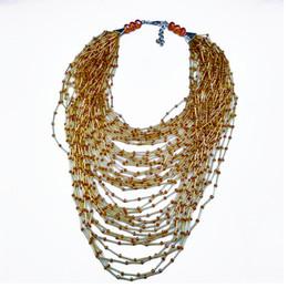 Colares artesanais originais on-line-Original artesanal de cristal tubo de vidro Multi-camada cadeias colares Bohemia estilo vertente senhoras acessórios diários mulher jewlry