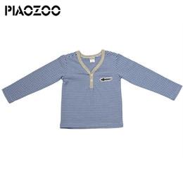 2019 chemises à col haut Tenues à la mode d'automne 2018 100% coton col V top tee shirt homme T-shirt à manches longues à rayures en tissu Baby Infant de haute qualité P40 promotion chemises à col haut