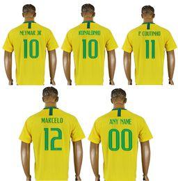 d88f34bfc China Brazil New 2018  10 Neymar Jr 11 Philippe Coutinho 12 Marcelo  Ronaldinho Mens Uniforms