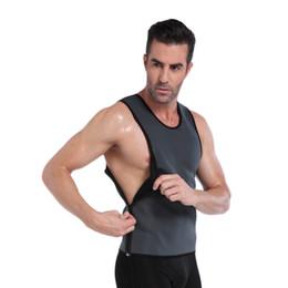 Argentina NINGMI Neopreno Chaleco Para Hombre Hot Sweat Shirt adelgaza Fitness Body Shaper Tank Top Undearear Waist Trainer Sauna Traje de Pérdida de Peso cheap tank hombre Suministro