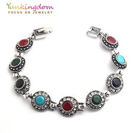 1ba725dbb63f 2019 joyas para mujeres jóvenes Al por mayor- Yunkingdom Bohemia étnica  pulsera de moda piedras
