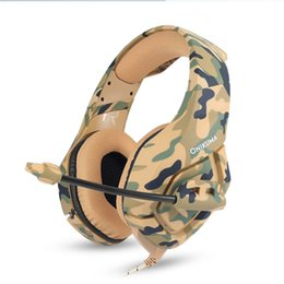 Wholesale Headphones Games - K1 Camouflage PS4 Headset Bass Gaming Headphones Game Earphones Casque with Mic for PC Mobile Phone New Xbox One Tablet
