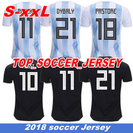 Wholesale jersey plus size shorts - 2018 world cup Argentina Soccer Jersey 2018 Argentina HIGUAIN Home Blue soccer Shirt Messi Aguero Di Maria football uniform plus size XXL