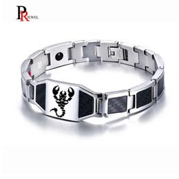 Deutschland Kohlefaser Magnetische Bio Energie Armbänder für Männer Stilvolle Skorpion Gesunde Therapie Gliederkette Männlichen Armband 8,46