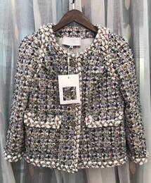 Wholesale Womens Long Vest L - Runway Jacket Womens 2018 Brand Spring Jacket Women Tweed Jacket Coat Long Sleeve Solid Coats