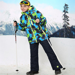 Children Ski Suit Ski Jacket and Pants for Kids Winter Clothes Waterproof Windproof  Winter Thermal Clothes Boys Jacket 569bcb345