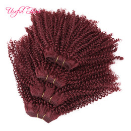 Wholesale 1b 33 Weave - WHOELSALE HAIR 12inch Brazilian Curly Synthetic Hair Weave Bundles Sewing in Hair Extensions with Closure One Pack kinky curly free shipping