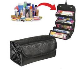 embalagem por atacado para sacos de cosméticos Desconto Atacado-TV vendendo produtos cosméticos Roll-N-Go Cosmetic Bag grande capacidade Multifuncional pacote de armazenamento frete grátis