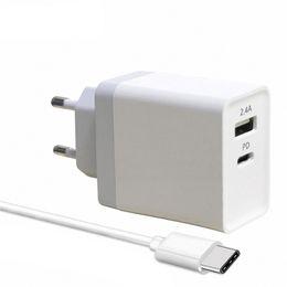 беспроводные адаптеры питания Скидка 29W USB Type-C PD Fast Wall зарядное устройство адаптер с доставкой питания для iPhone X 8 Plus Macbook Pro USB-C PD зарядное устройство