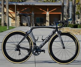 Wholesale Carbon Fibre Bike Wheels - The Newest MCipollini Anthracite Shiny RB1K THE ONE Complete Bicycle With , 5800 R8000 Groupset , 50mm carbon wheels A271 Hubs free shipping