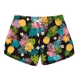 2019 damas pantalones cortos de natación 2018 impresión digital señoras de secado rápido pantalones cortos de playa bolsillos de impresión de moda en ambos lados casuales shorts spa bañador damas pantalones cortos de natación baratos