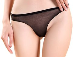Scie à huile en Ligne-Lady Lady Sexy See Through Sheer Oil Shine Brife Panty