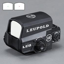 тактические крепления Скидка LEUPOLD LCO Модернизированная прицел Red Dot Sight Прицелы с голографическим прицелом Подходит для любого 20-миллиметрового рельса Airsoft Gun