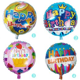 Wholesale First Baby Toy - New style Baby boy girl happy birthday balloons 18inch number foil globos 10pcs for first happy birthday party decoration ballons