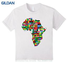 Großhandelsrabatt T-Shirt Homme T-Shirt Männer Lustiges Afrika-T-Shirt afrikanischer Flaggen-Kontinent-grafisches T-Stück von Fabrikanten