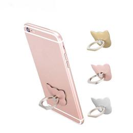 Soporte móvil barato online-Barato 360 Grados Anillo de dedo Anillo de gato Lindo teléfono móvil de dibujos animados Soporte para teléfono inteligente Soporte para todo el teléfono