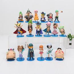 Conjunto de figura de uma peça nami on-line-6 pçs / set One Piece Figura Um Pedaço LUFFY Nami zoro Q visão PVC Action Figure Model Toy