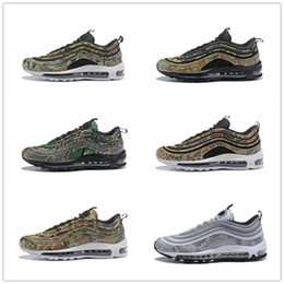 Wholesale country uk - 2018 New Arrival 97 Bullet PRM Country Camo France UK Italy Japan Sports Running Shoes for International Men's 97s Jogging Sneakers EUR40-46