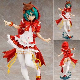 hatsune miku toys Coupons - Anime Hatsune Miku Red Riding Hood Project DIVA 2nd PVC Action Figure One Piece Cartoon Collectible Model Toy 25cm KT650