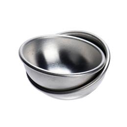 cosmetici tarte Sconti Moda 2 pz / set stampo stampo in alluminio ellissoide torta stampo bagno bombe stampo 2 tarte trucco trucco cosmetici sapone