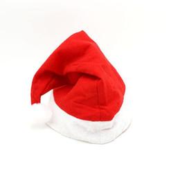 miroir de capot Promotion Chapeau rouge de père noël ultra doux peluche noël cosplay chapeaux noël décoration adultes chapeaux de fête de noël