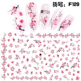 Тисненые листы онлайн-1 Sheet Pink Plum/Garden Flowers/Dande 3D Embossed Nail Sticker Flower Adhesive DIY Manicure Slider Nail Art Tips